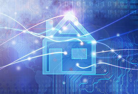 Graphic of WiFi connected home